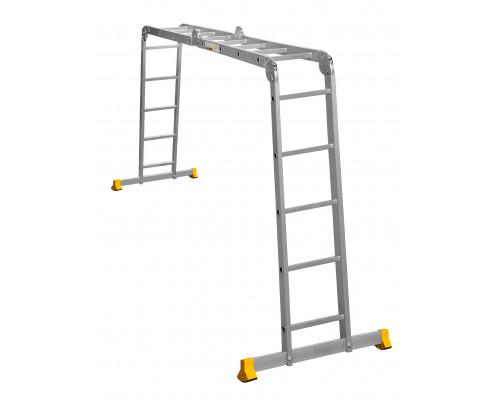 Лестница алюминиевая шарнирная (T445)