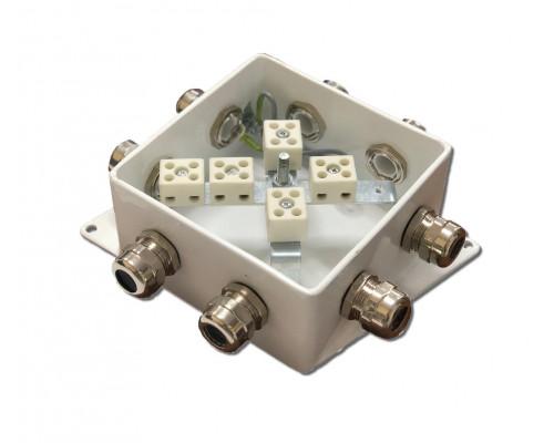 КМ-О (10к*6,0)-IP66-120х120, восемь вводов
