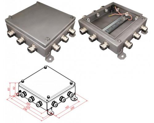 КМ IP66-2020, 12 вводов, нержавейка