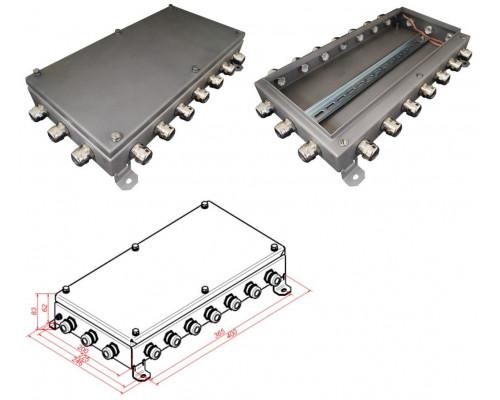 КМ IP66-2040, 20 вводов, нержавейка