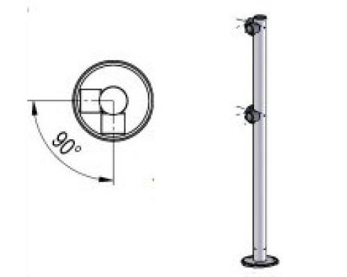 Praktika Стойка ограждения двухсторонняя (L-образная)