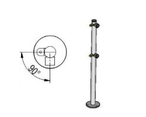 Praktika Стойка ограждения с 2-мя полупетлями L-образная