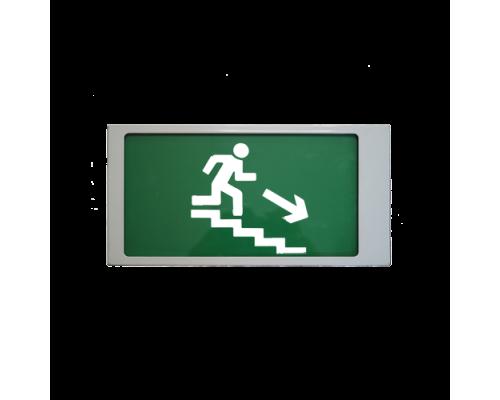 """Ирида-Гефест """"Выход по лестнице вниз"""", трафаретный (Т-Е13-Бел/Зел-2х5)"""