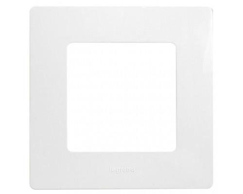Рамка 1 пост ETIKA, белая (672501)
