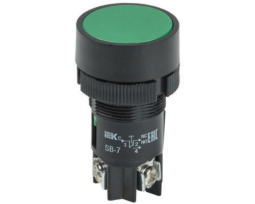 """Кнопка SВ-7 """"Пуск"""" зеленая D=22 мм (BBT40-SB7-K06)"""