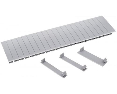 Заглушка 12 модулей серая (YZM10-12)