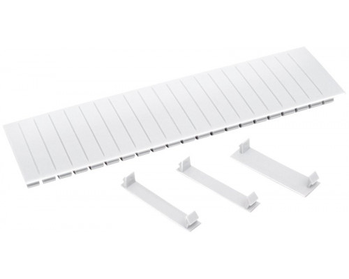 Заглушка 12 модулей белая (YZM10-12-K01)