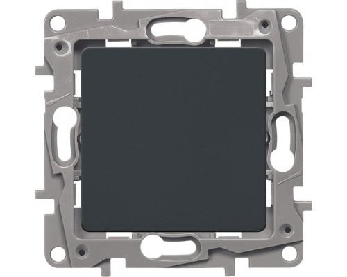 Выключатель 10AX-250В ETIKA, антрацит (672601)