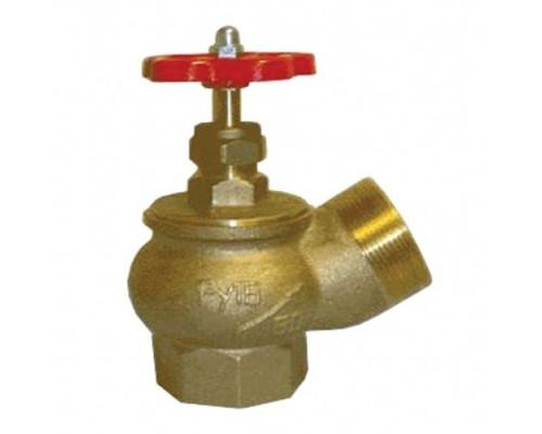Вентиль КПЛ 50-1 угловой латунь (муфта-цапка)