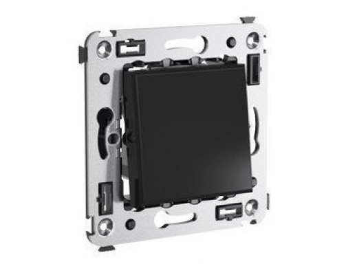 Выключатель одноклавишный в стену Avanti черный квадрат (4402103)