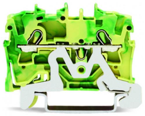 WAGO 2002-1207, клемма 2-х проводная с заземлением