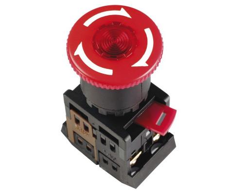 """Кнопка ANE22 """"Грибок"""" с фиксацией красный D=22мм (BBG40-ANE-K04)"""