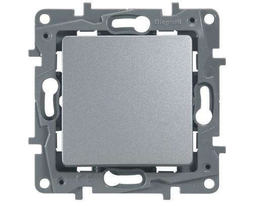 Выключатель одноклавишный ETIKA, алюминий (672401)