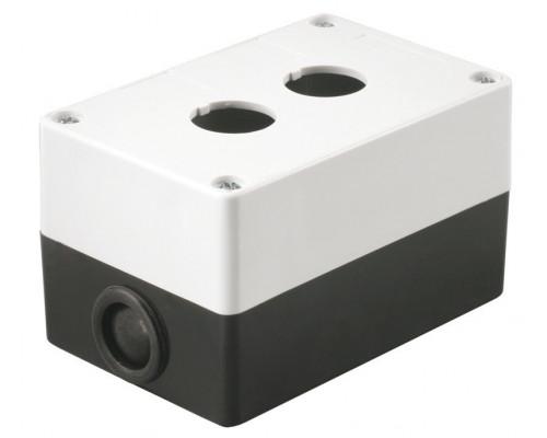 Корпус КП102 для кнопок 2 места белый (BKP10-2-K01)