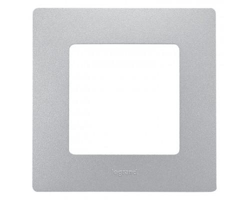 Рамка 1 пост ETIKA, алюминий (672551)