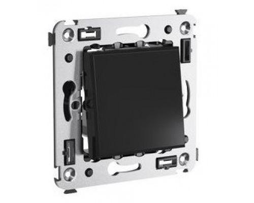 Инвертор одноклавишный в стену Avanti черный квадрат (4402123)