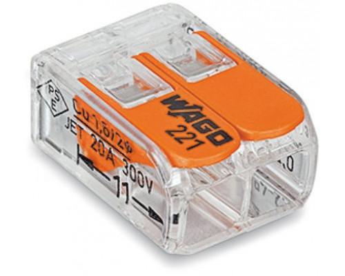 WAGO 221-412 клемма 2-проводная