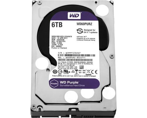 HDD 6000 GB (6 TB) SATA-III Purple (WD60PURZ)