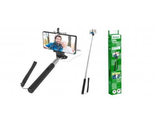 Штатив для селфи Defender Selfie Master SM-02 / поддержка iOS и Android (Для Android: если клавиша громкости ?+? не работает как спуск затвора камеры, то необходима установка приложения ?Camera360?.) / проводной 3,5-мм джек / 20-98 см.