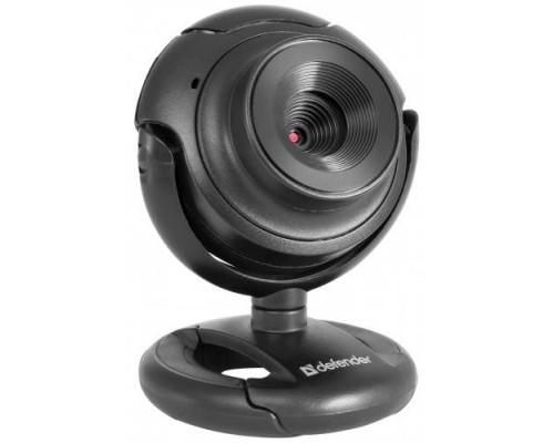 Веб-камера Defender C-2525HD /сенс 2МП /фото /обзор 60°/встр. микр. / USB 2.0 /фокус ручн. /ун. крепл. /черный