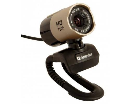 Веб-камера Defender G-lens 2577 HD720p /сенс 2МП/обз.56°/микр./USB 2.0/фокус ручн./фото/ун. крепл./линза 5-т сл./HDвидео