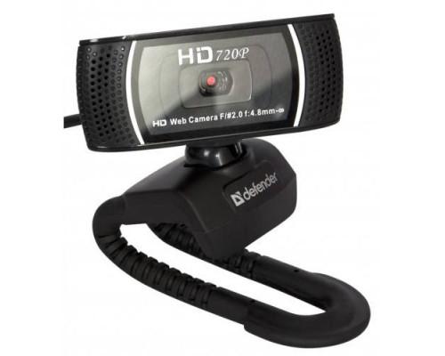 Веб-камера Defender G-lens 2597 HD720p /сенс 2МП/обз.60°/микр./USB 2.0/автофокус/авт.настр. изобр./линза 5-т сл./HDвидео