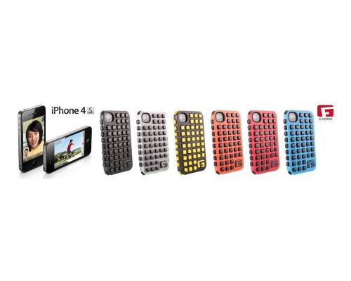 Противоударный чехол для iPhone 4S, Extreme Grid реактивная защита от удара и падений (RPT ?), красный/черный, G-Form.