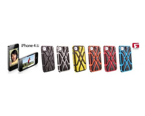 Противоударный чехол для iPhone 4S, X-Protect реактивная защита от удара и падений (RPT ?), оранжевый/черный, G-Form.
