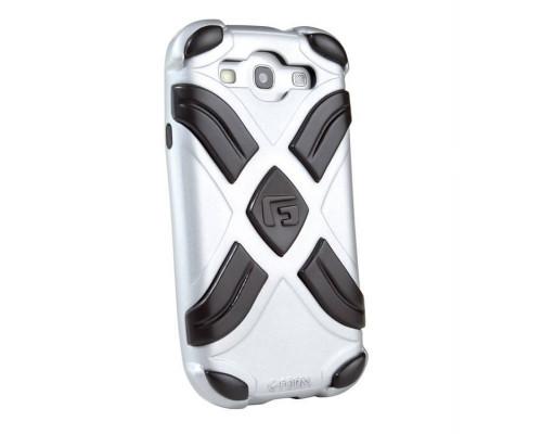 Противоударный чехол для Samsung Galaxy S3, EXTREME реактивная защита от удара и падений (RPT ?), серебро/черный, G-Form