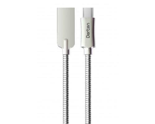 Dorten Кабель USB-C Steel Shell Series, 1 метр, Silver