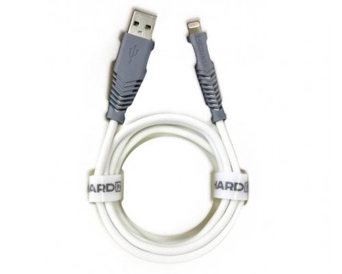 HARDIZ Кабель Lightning на USB 2.0 MFI высококачественная нейлоновая оплетка, 1,2 метра, White.