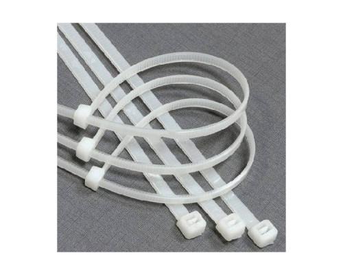 Cтяжка нейлон 2.5X200мм, белая, (100шт./уп.)