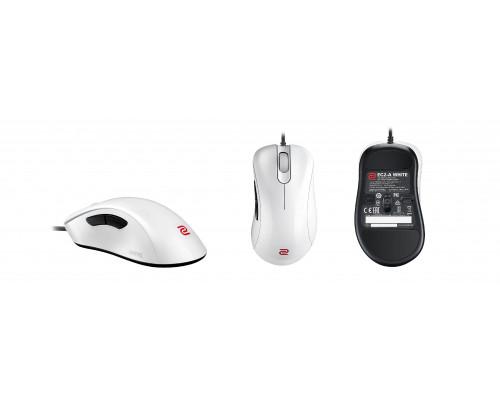 BENQ Zowie Мышь EC2-A (White) игровая профессиональная, для правшей, 5 кн, USB кабель 2м, 400/800/1600/3200 dpi., белая.