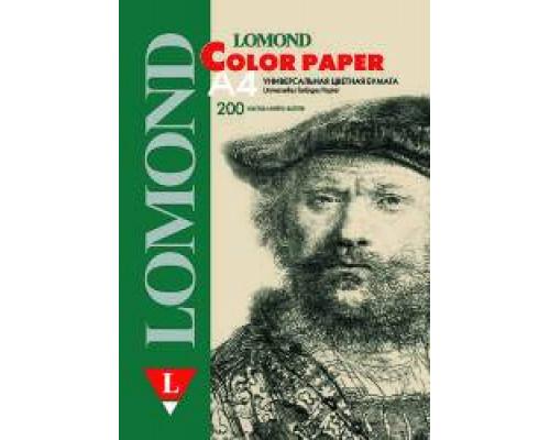 Офисная цветная бумага LOMOND, Cream (Светло-желтый), A4, 80 г/м2, 200л, пастель