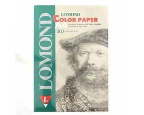 Офисная цветная бумага LOMOND, Lagoon (Светло-зеленый), A4, 80 г/м2, 200л., пастель