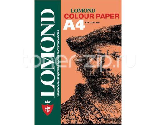 Офисная цветная бумага LOMOND, Peach (Персиковый), A4, 80 г/м2, 200л., пастель