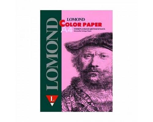 Офисная цветная бумага LOMOND, Pink (Розовый), A4, 80 г/м2, 200л., пастель