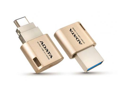 Флеш накопитель 16GB A-DATA Choice UC350, USB3.1/Type-C, Золотой