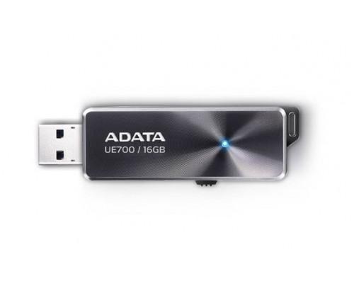 Флеш накопитель 16GB A-DATA DashDrive Elite UE700, USB 3.0, Черный, металлич.