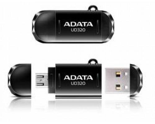 Флеш накопитель 16GB A-DATA DashDrive UD320 OTG, USB 2.0/MicroUSB, Черный