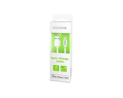 Кабель A-DATA Lightning-USB для зарядки и синхронизации iPhone, iPad, iPod (сертифицирован Apple) 1м, White