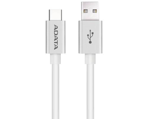 Кабель A-DATA Type-C - USB2.0 для зарядки и синхронизации 1м, металлический, white
