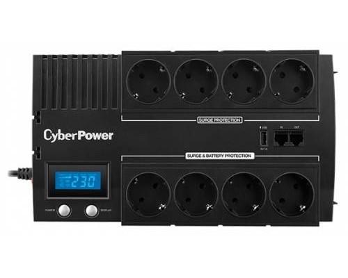 CyberPower ИБП Line-Interactive BR1200ELCD 1200VA/720W USB/RJ11/45 (4+4 EURO)
