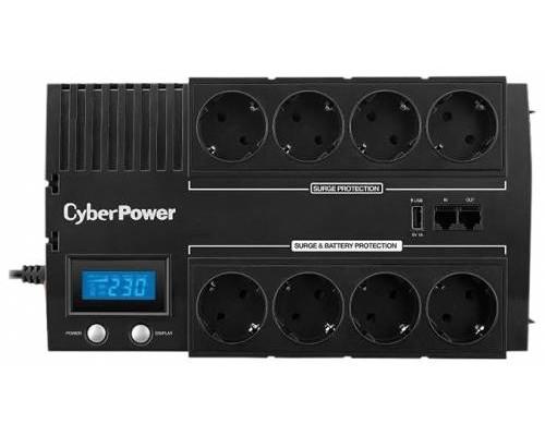 CyberPower ИБП Line-Interactive BR700ELCD 700VA/420W USB/RJ11/45 (4+4 EURO)