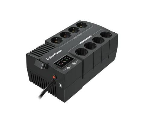 CyberPower ИБП Line-Interactive BS450E NEW 450VA/270W  8 Schuko розеток, USB, Black