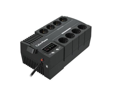 CyberPower ИБП Line-Interactive BS650E NEW  650VA/390W 8 Schuko розеток, USB, Black