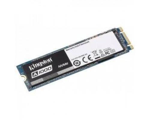 Твердотельный диск 960GB Kingston SSD A1000 PCI-E x2, M.2 2280 1500/1000Mbs 3D NAND TLC Phison E8