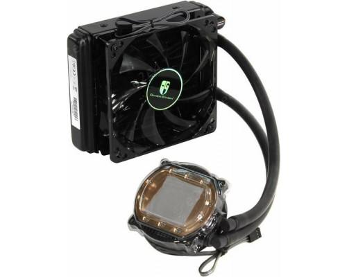 Комплект водяного охлаждения DEEPCOOL MAELSTROM 120T (универсальный, 150W, 18-32 dB, 600-1800 rpm, 120мм, (3+4) pin, синяя подсветка) RTL