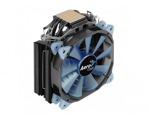 Кулер CPU Aerocool Verkho 4 Dark (универсальный, 145W, 15-27 dB, 1200-2800 rpm, 120мм, 4pin, медь+алюминий) RTL