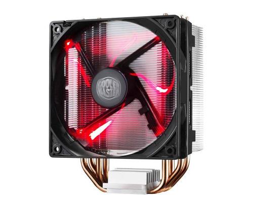 Кулер CPU Cooler Master Hyper 212 LED (универсальный, 150W, 9-31 dB, 600-1600rpm, 120мм, 4pin, медь+алюминий, красная подсветка) RTL